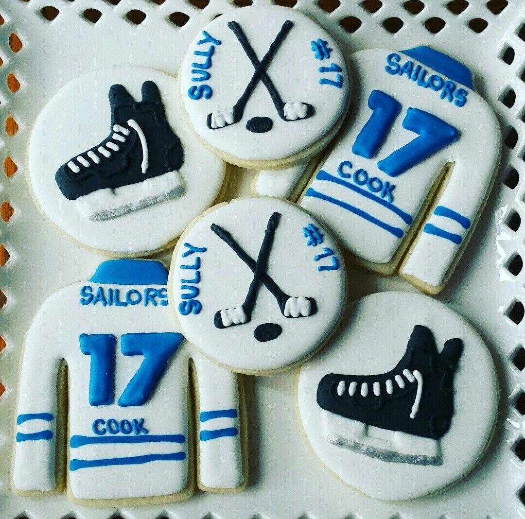 Hockey Cookie Set Sugar Cookies Hockey Jerseys Hockey Skates Sugar Cookie Designs Sugar Cookies Cookie Designs