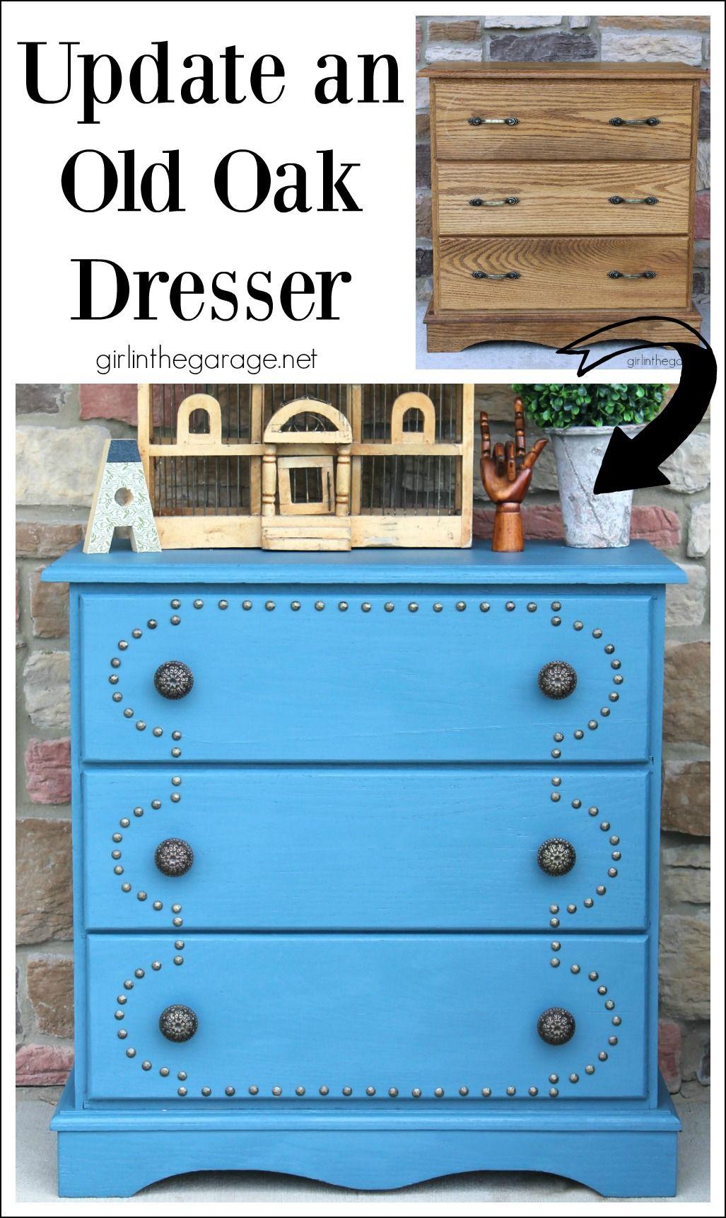 How To Update An Old Oak Dresser   Girlinthegarage.net
