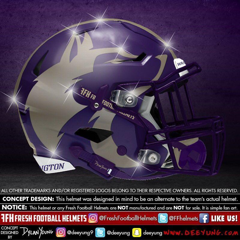 Washington Huskies College Design Concept By Deeyung9 Freshfootballhelmets Football Helmet Helmets Footballhelmet Footballhelmets Designconcept Deey