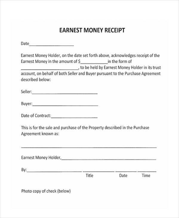 Rental Receipts Format template Pinterest Template
