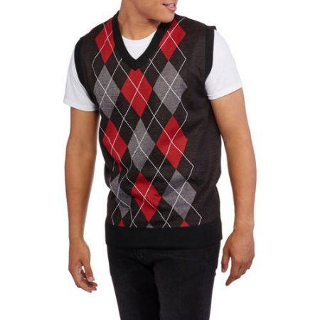 f90effc35 Ten West Men s V-Neck Argyle Sweater Vest