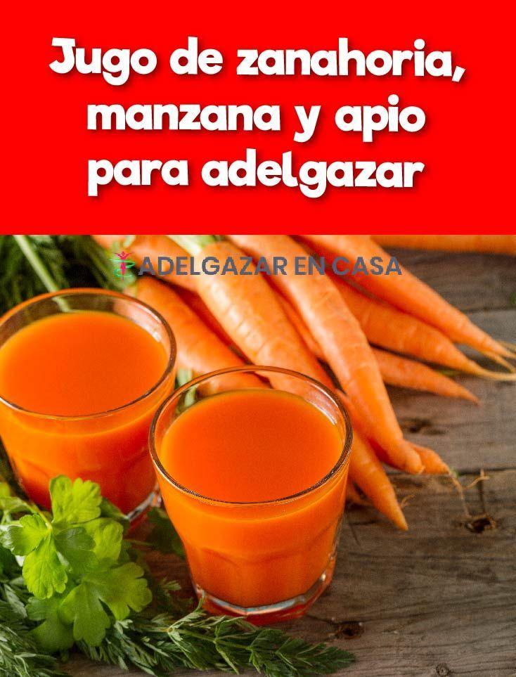 jugo de manzana zanahoria y apio para bajar de peso
