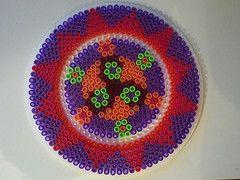 Kreis in lila hama perlen by petuniad