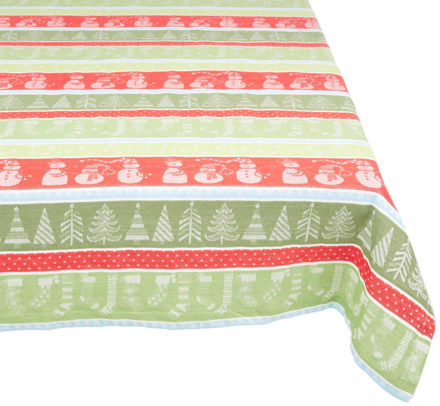 Captivating Amazon.com   DII 100% Cotton, Machine Washable Tablecloth Winter Fun 60x84 #