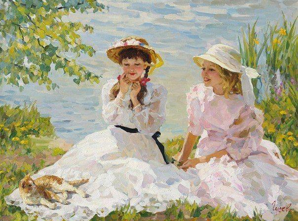 adorable  Paintings by Vladimir Gusev