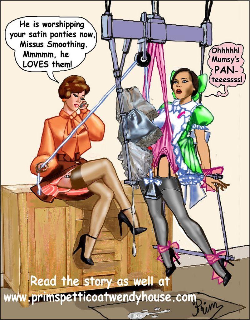 Crossdressed spank aunt
