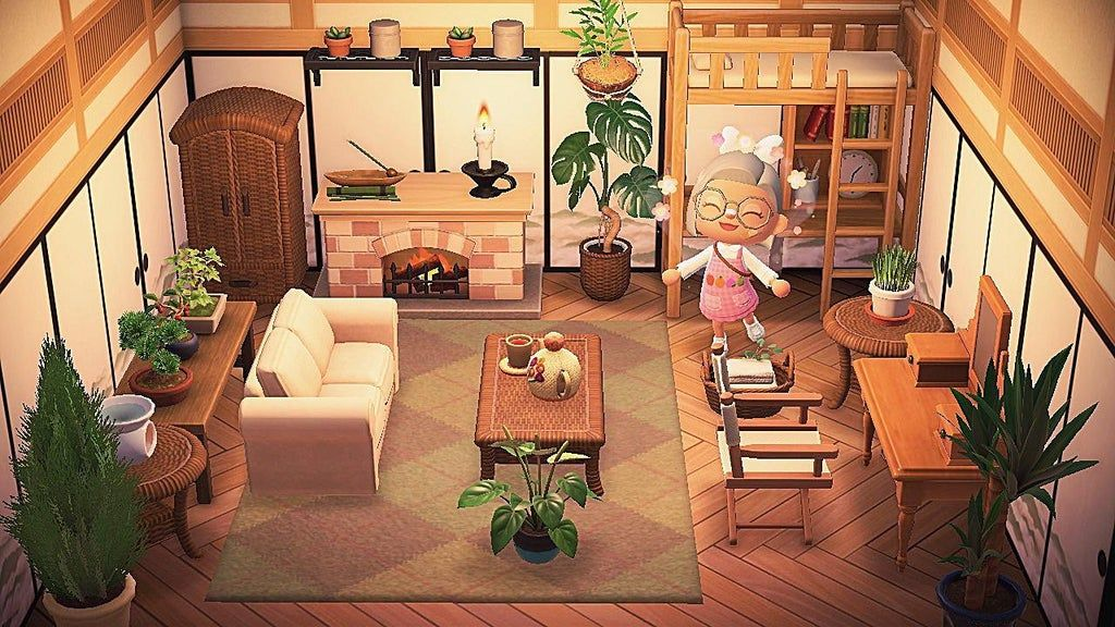 The Bedroom : AnimalCrossing in 2020   Animal crossing ... on Animal Crossing New Horizons Bedroom Ideas  id=88248