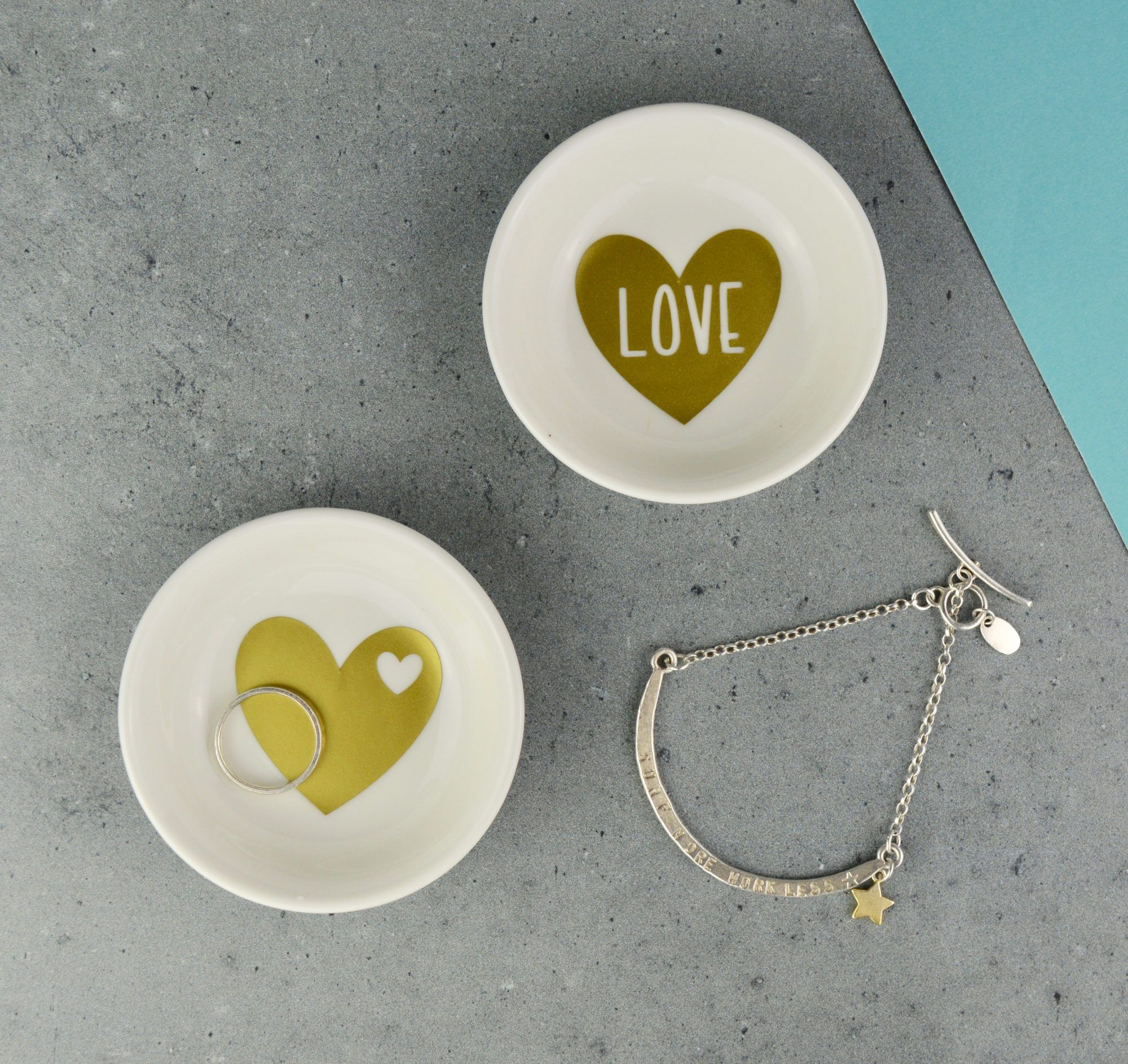 Heart Mini Ring Dishes Couples Collection Not A