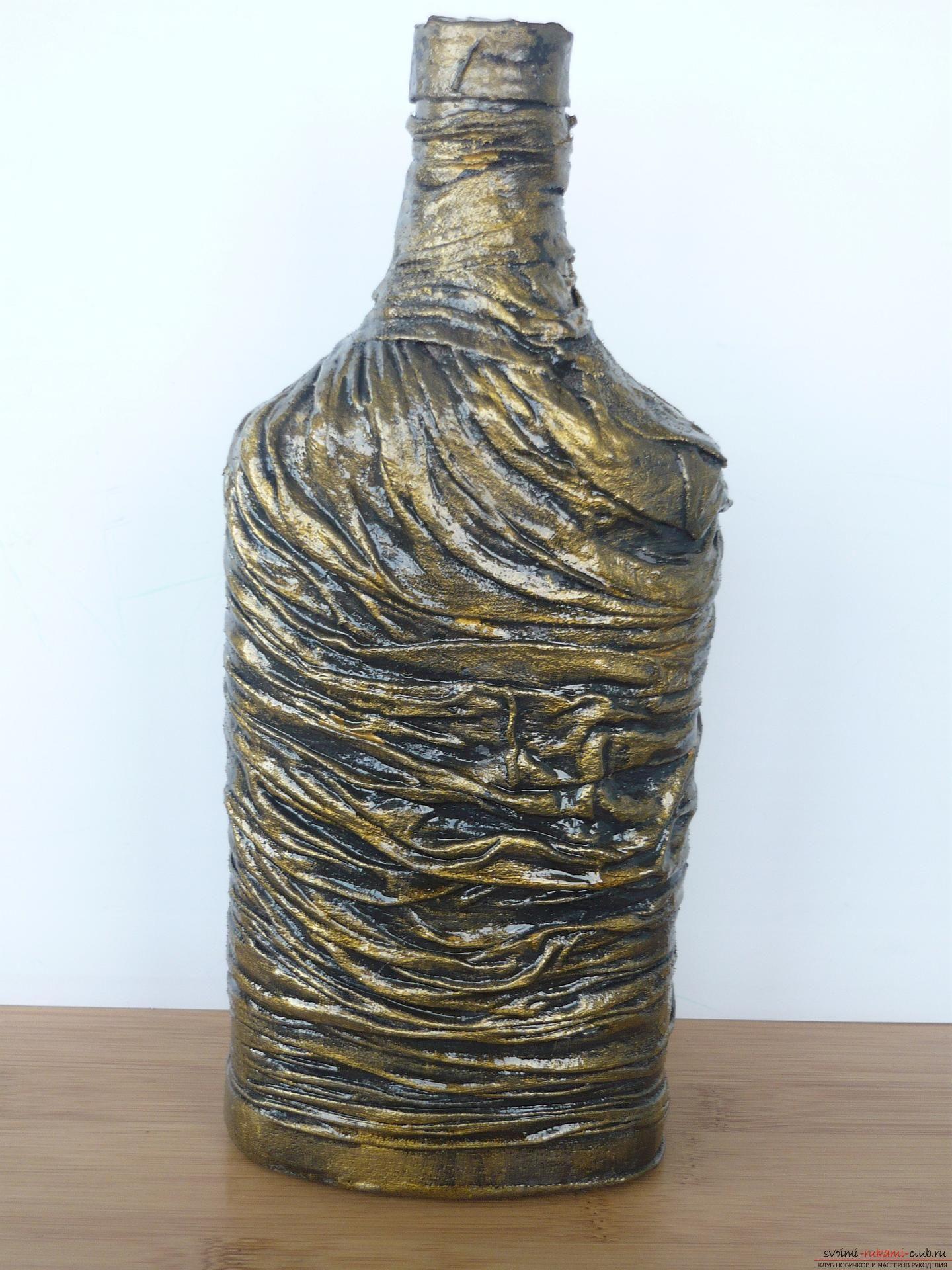 открылся декор бутылки мастер класс с пошаговым фото мечтают