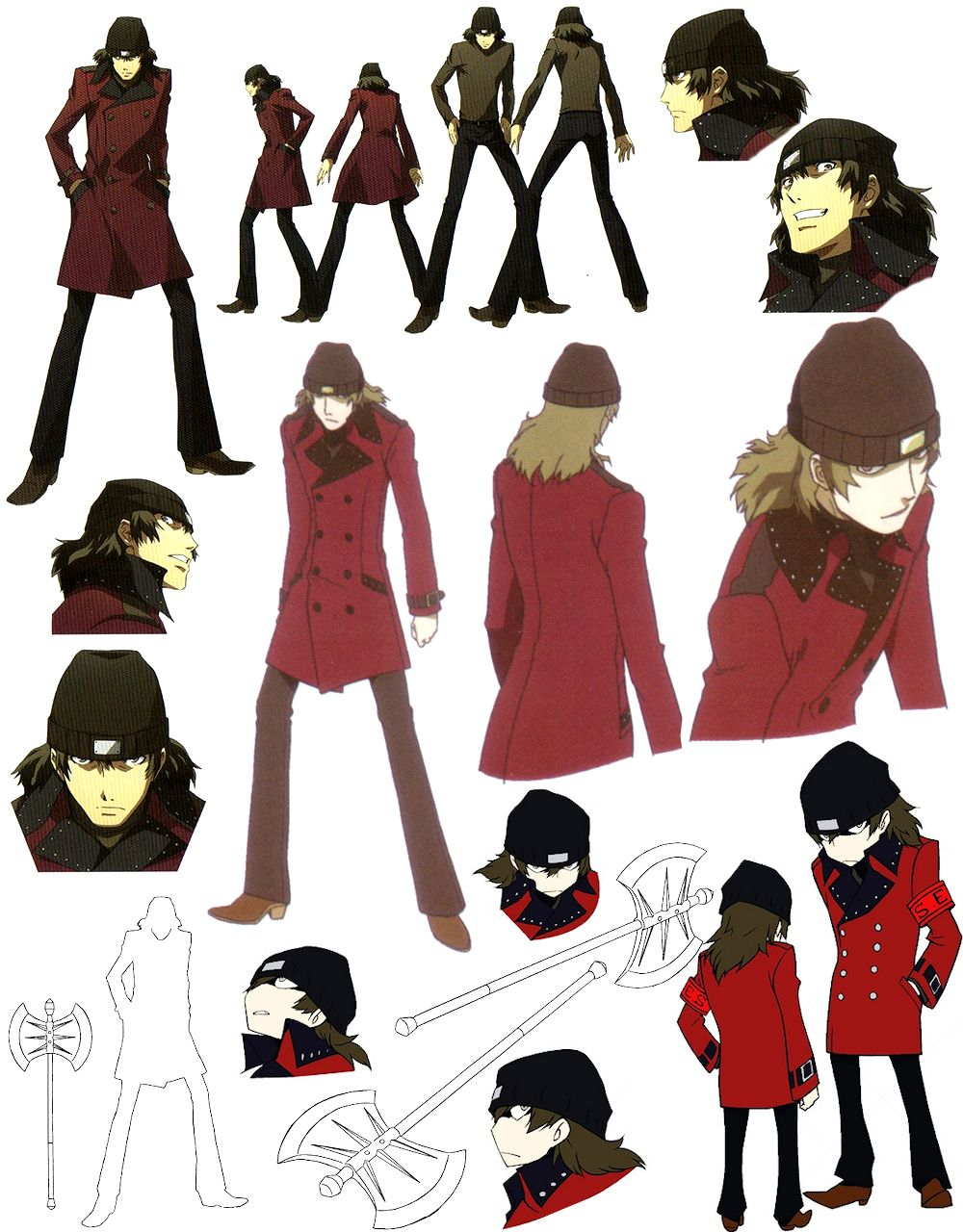 Persona 3 - Shinjiro Aragaki | Model Sheets and references