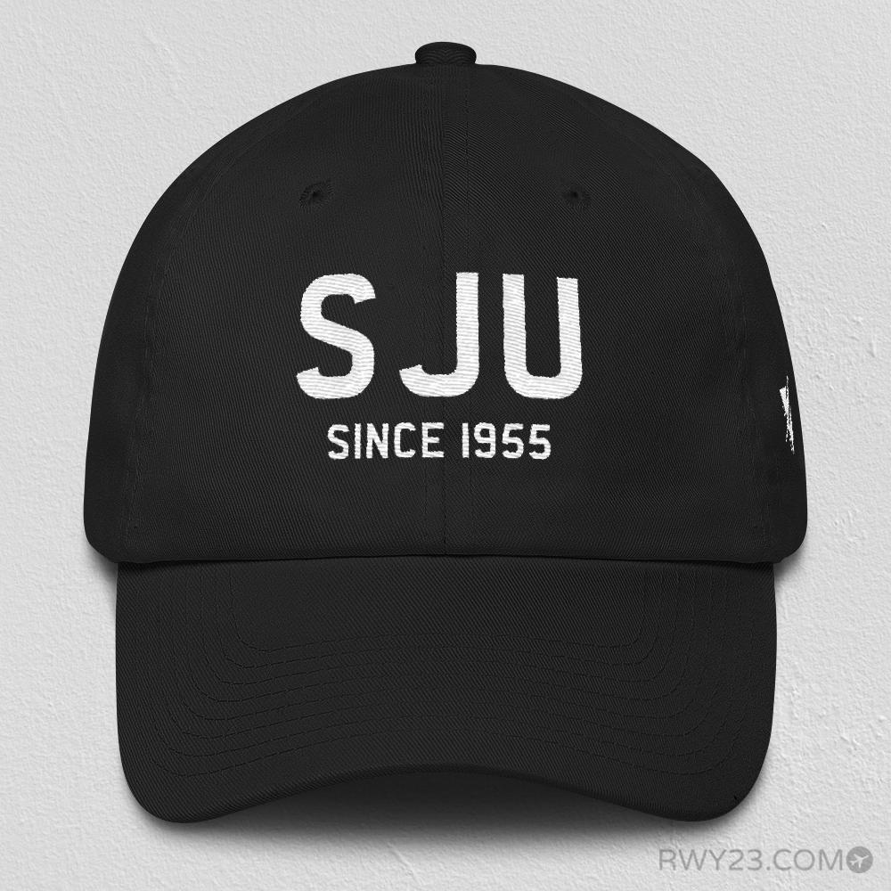 SJU San Juan Dad Hat • Since 1955 • Airport Code & Opening Year • Varsity Style Design