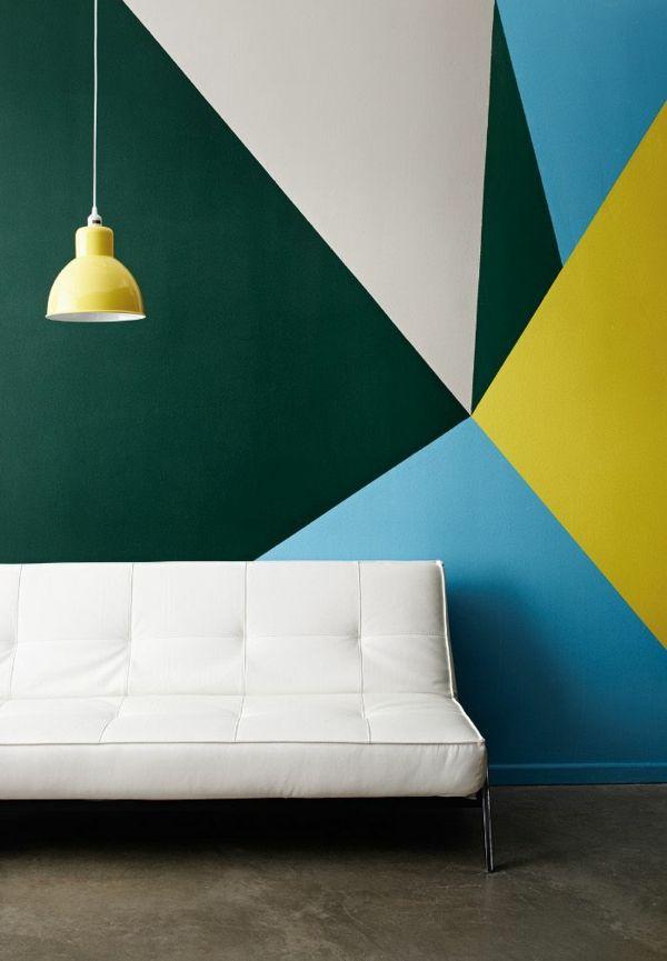 Wohnzimmer Wandgestaltung Mit Farbe Ideen Zur