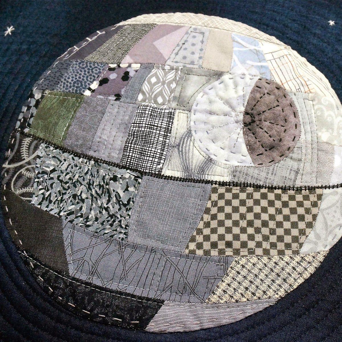 Hand Pieced Patchwork Death Star Pillow @Julia Erickson Bags: Sewing ...