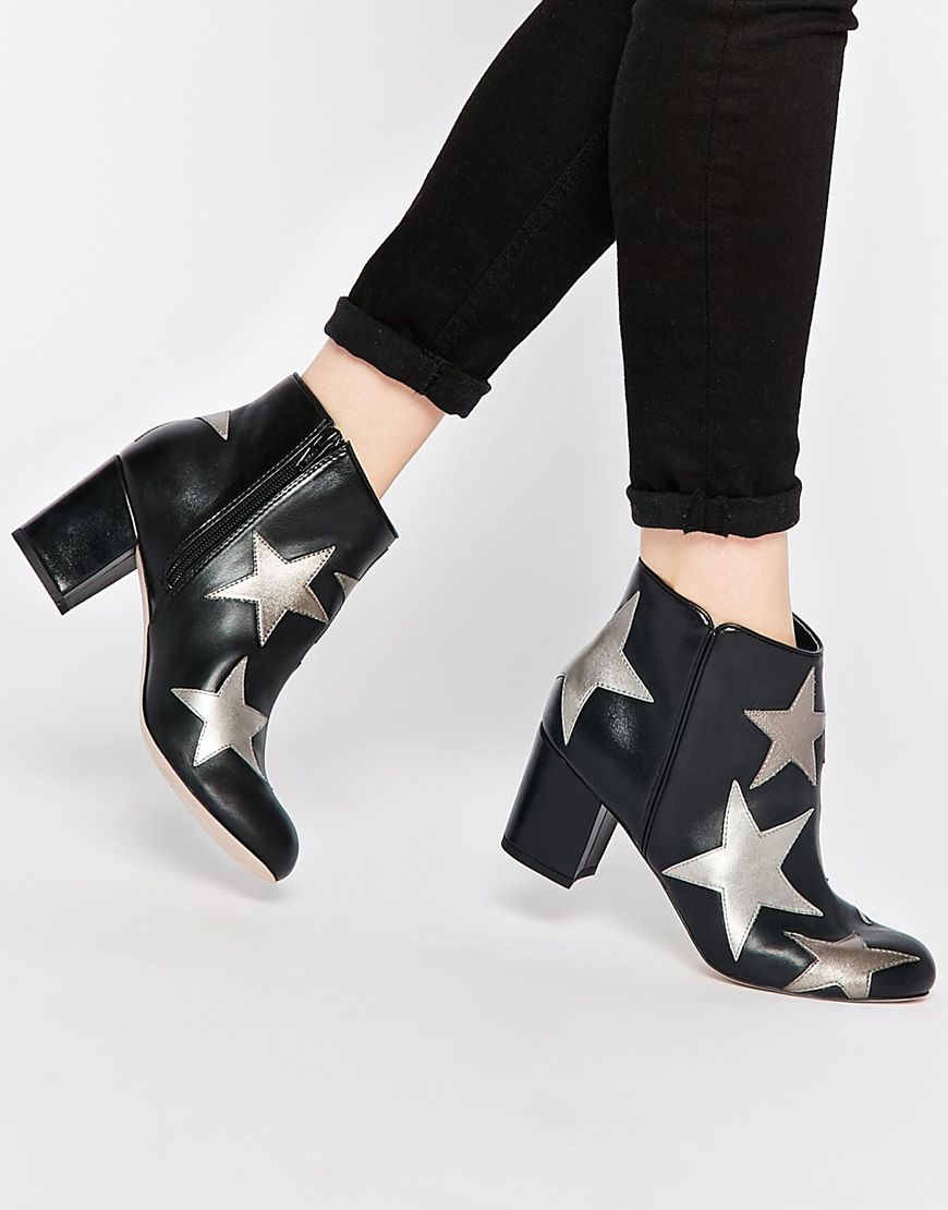star ankle boots