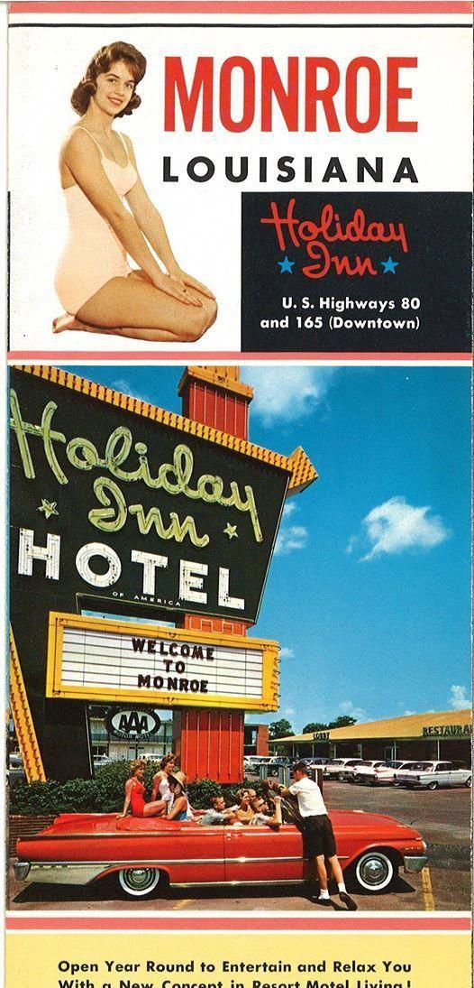 Brochure for Holiday Inn, Monroe, Louisiana Holiday inn