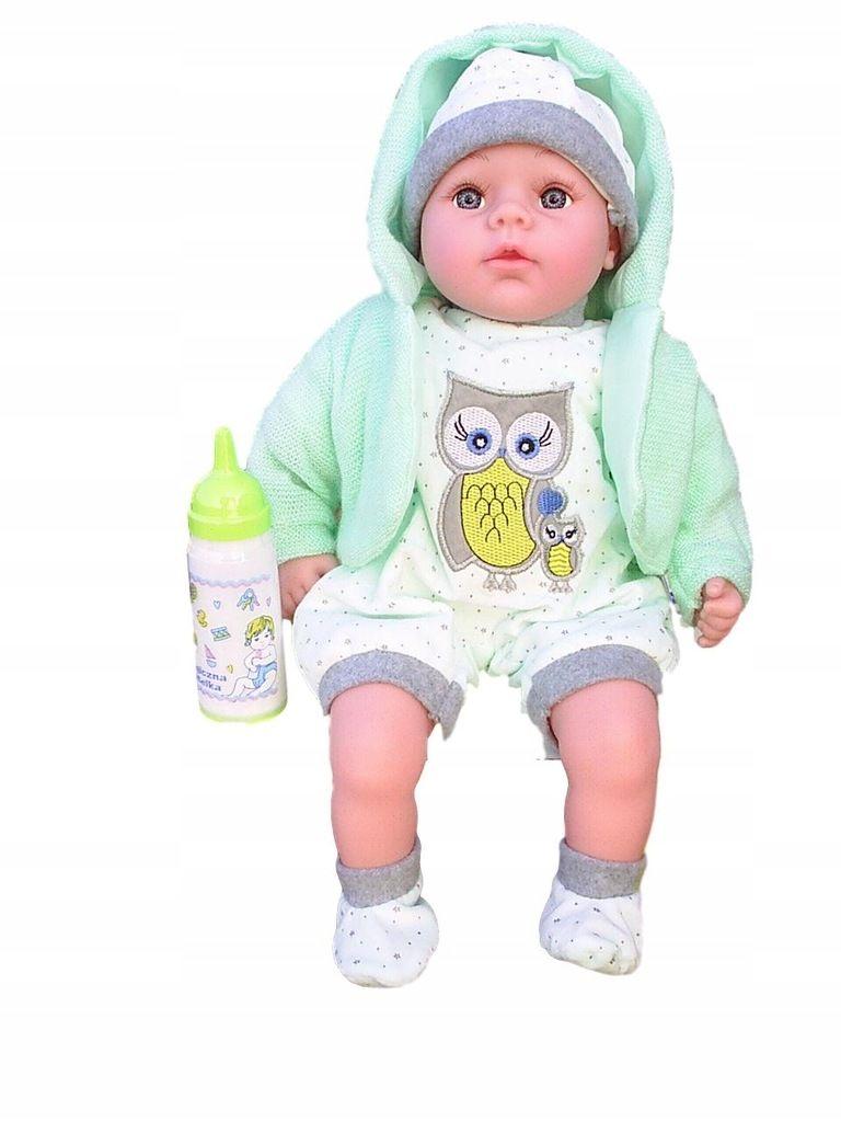 Lalka Jak Zywa 45cm Bobas Mowi I Spiewa Smoczek 7666739896 Oficjalne Archiwum Allegro Baby Face Baby Face