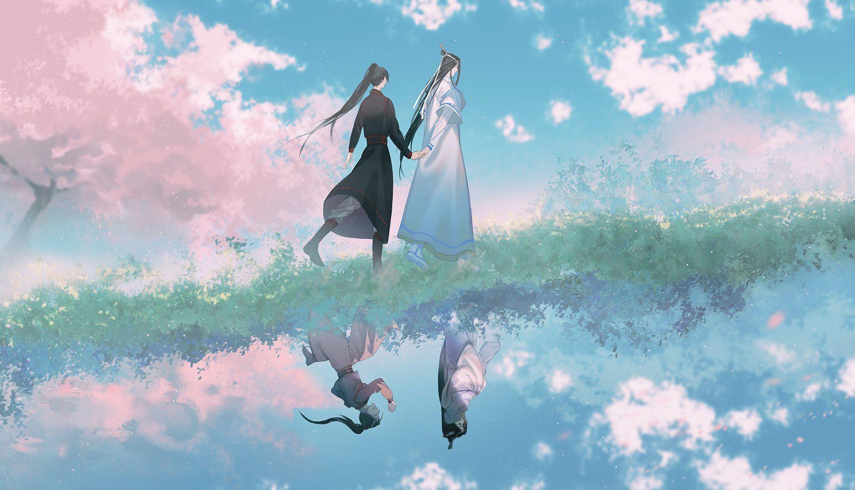 ปักพินโดย Ying Ying ใน 魔道祖师 พื้นหลัง, แฟนอาร์ท, คู่รัก