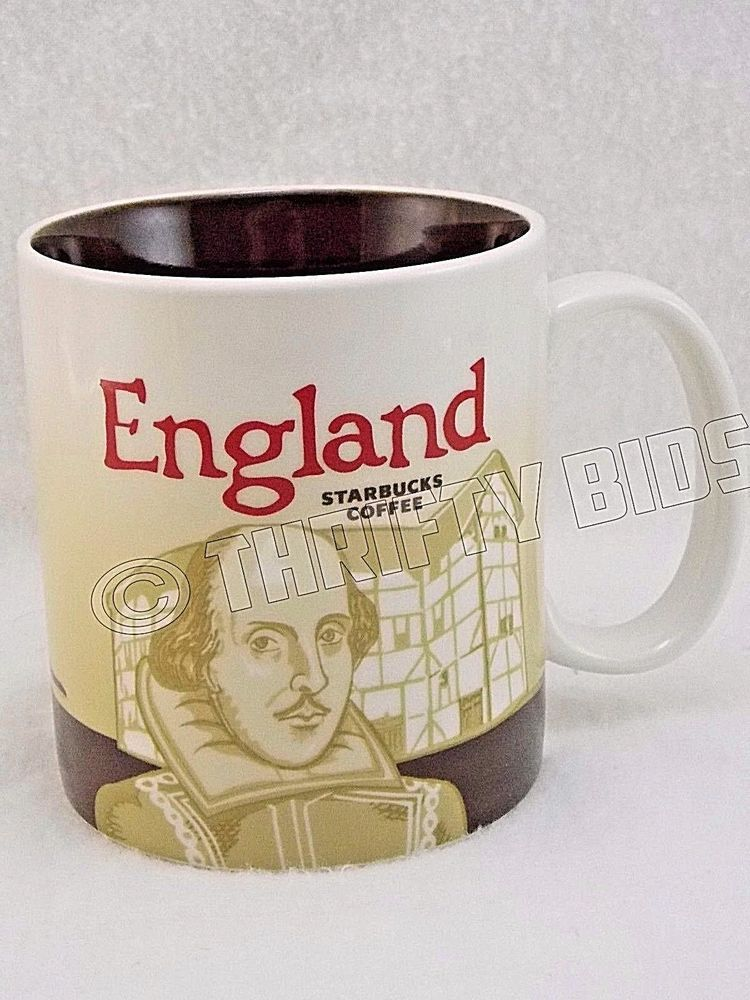 Genuine starbucks england collector series coffee mug 16oz