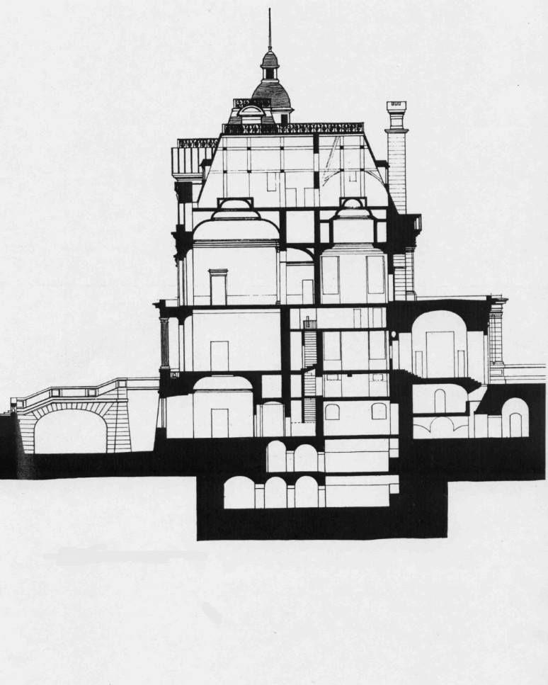 ch teau de maisons laffitte cross section french chateau pinterest ch teau and maison. Black Bedroom Furniture Sets. Home Design Ideas