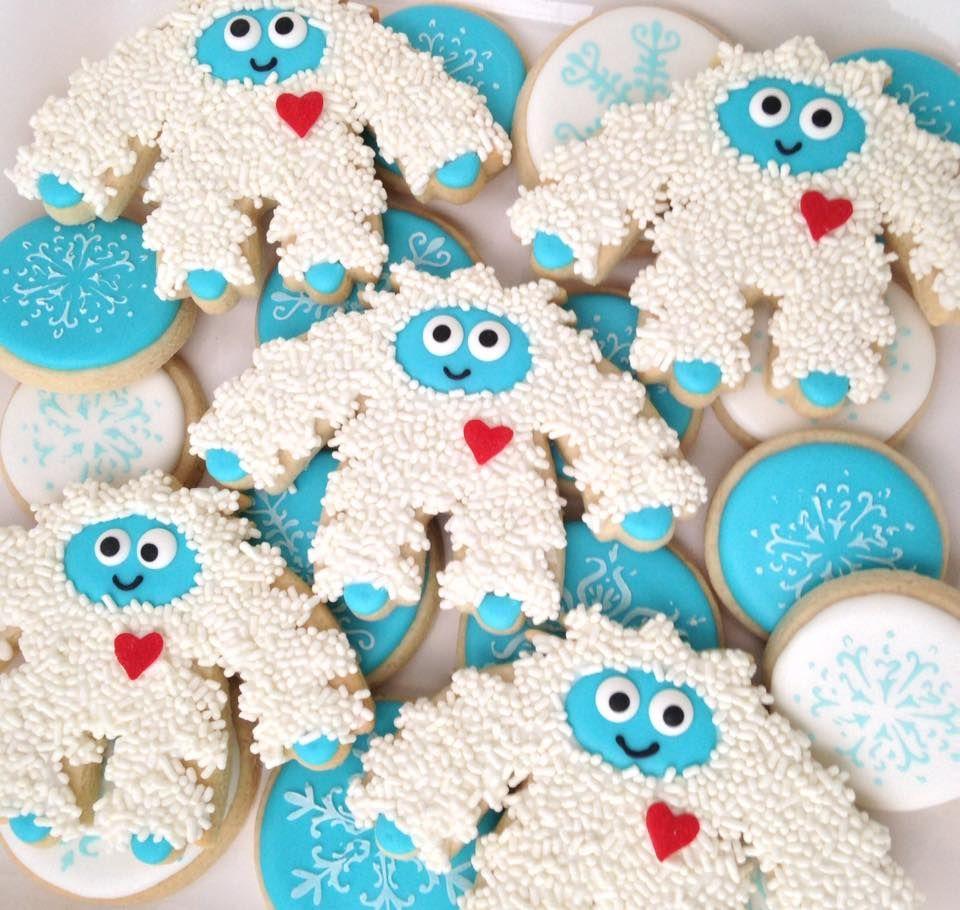 Yeti Abominable Snowman Cookies Laura S Custom Cookies In 2019