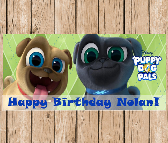 puppy dog pals birthday backdrop this personalized banner is the perfect addition to your little ones
