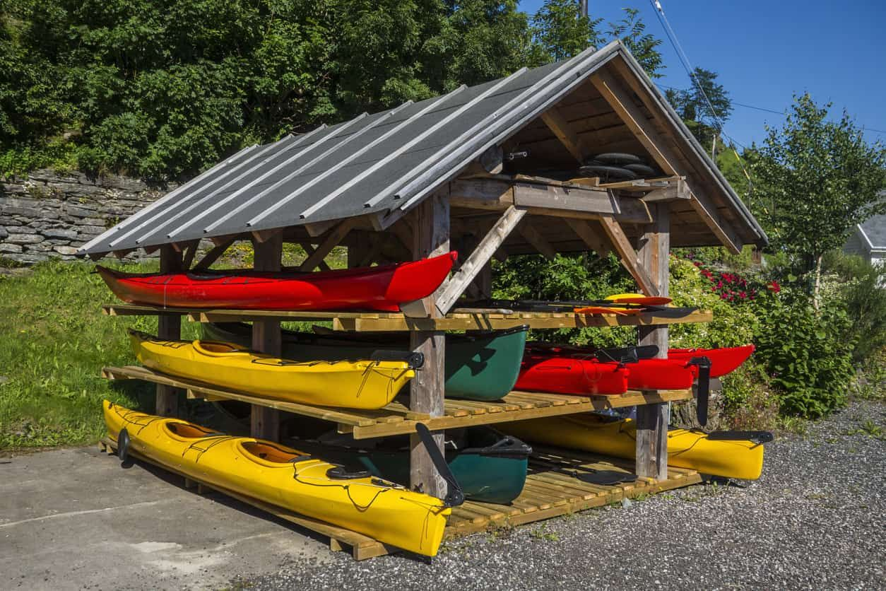 8 different kayak storage ideas get that thing off the