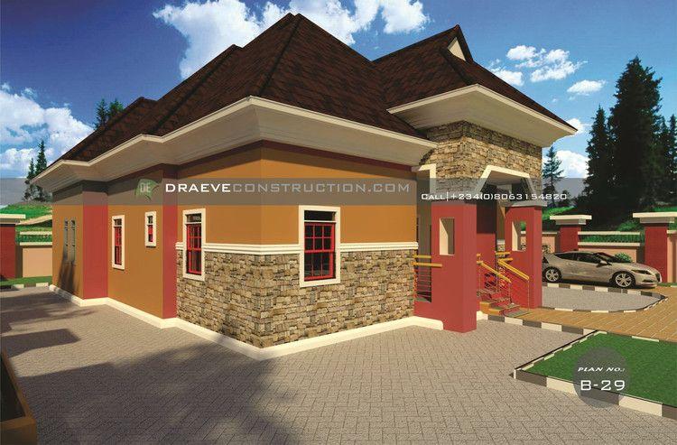 4 Bedroom Bungalow Building plan in Nigeria (Porharcourt ...