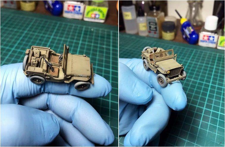 Airfix 1:72 Willys British Airborne Jeep Kit