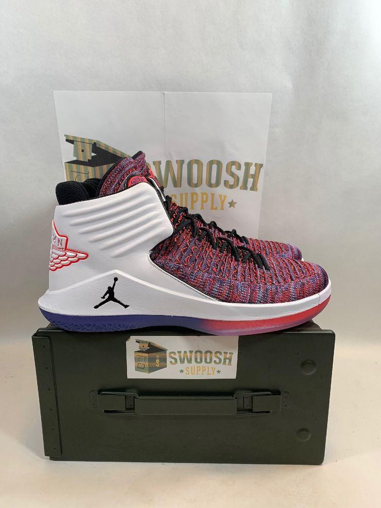 new product 6221b a85fd Nike Air Jordan XXXII 32 FINALE MULTICOLOR PURPLE BLACK WHITE AA1253-105 sz  10  Nike  BasketballShoes