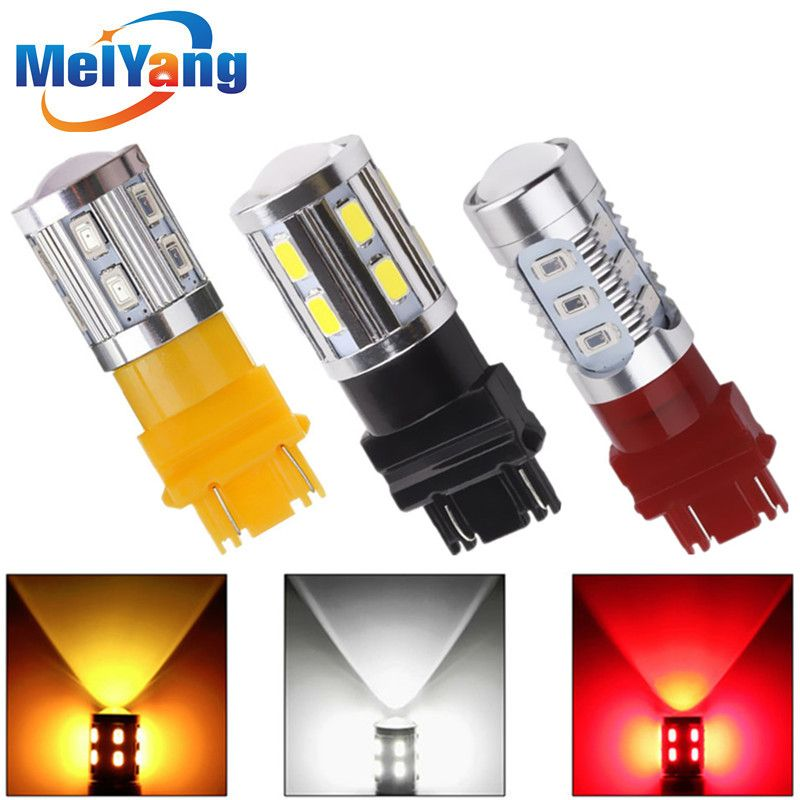 3157 3156 Led High Power 5730 Led Amber Geel Richtingaanwijzer Wit P27w T25 Auto Lampen Rood P27 7 W Auto Lichtbron Lamp 12 V Lamp Light Car Bulbs Car Lights