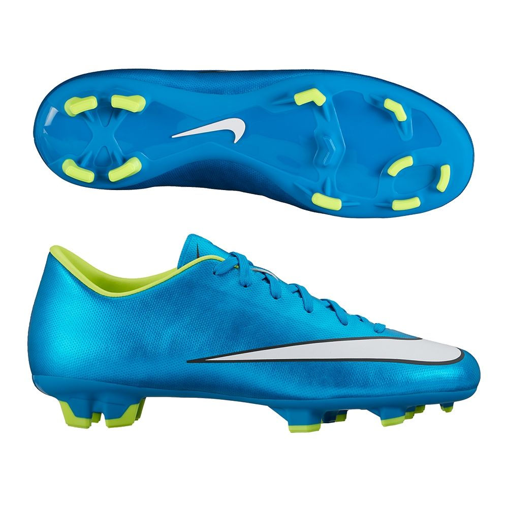 405207d01 The Nike Women s Mercurial Victory V soccer cleats feature a great bright  blue and volt color. Made for the USWNT