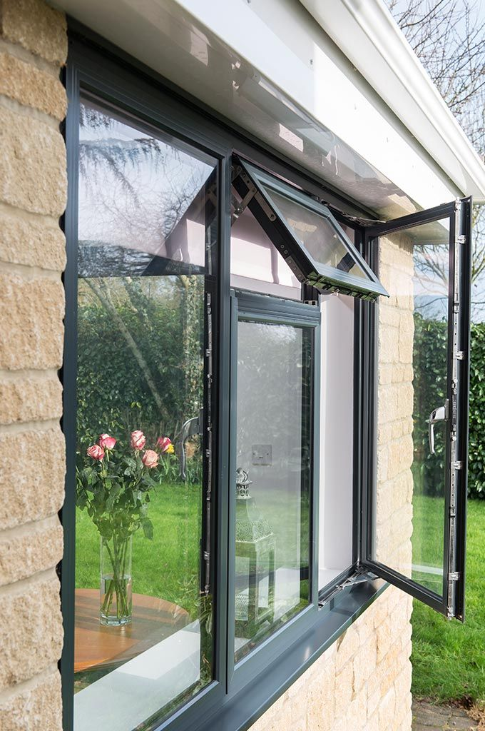 Close View Of Open Windows On An Everest Tiled Roof Extension Roof Extension Tiled Conservatory Roof Small Balcony Decor