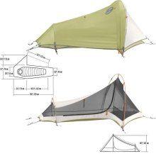 Mountain Hardwear Sprite 1- vestibule and covered gear/dog ...