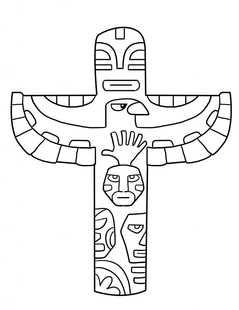 totem pole coloring pages # 11