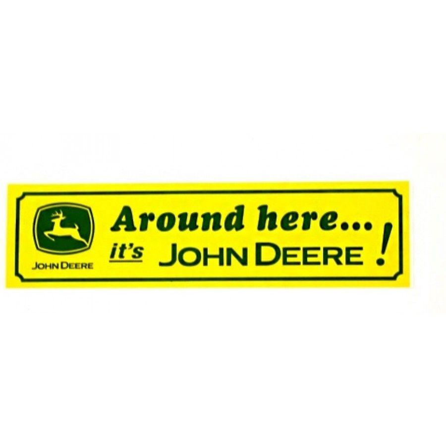 license plate frame #1 John Deere Licensed Nothing Runs Like a Deere Premium