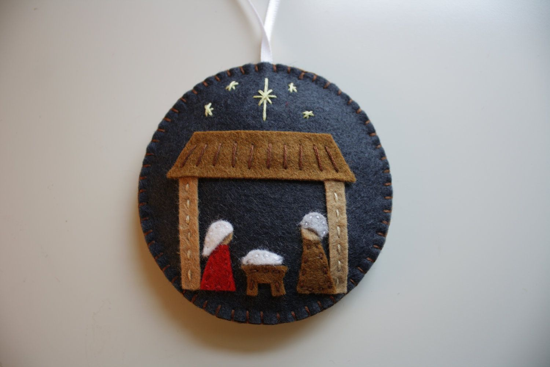 Nativity Felt Ornament Felt Christmas Ornaments Felt Ornaments Christmas Ornaments To Make