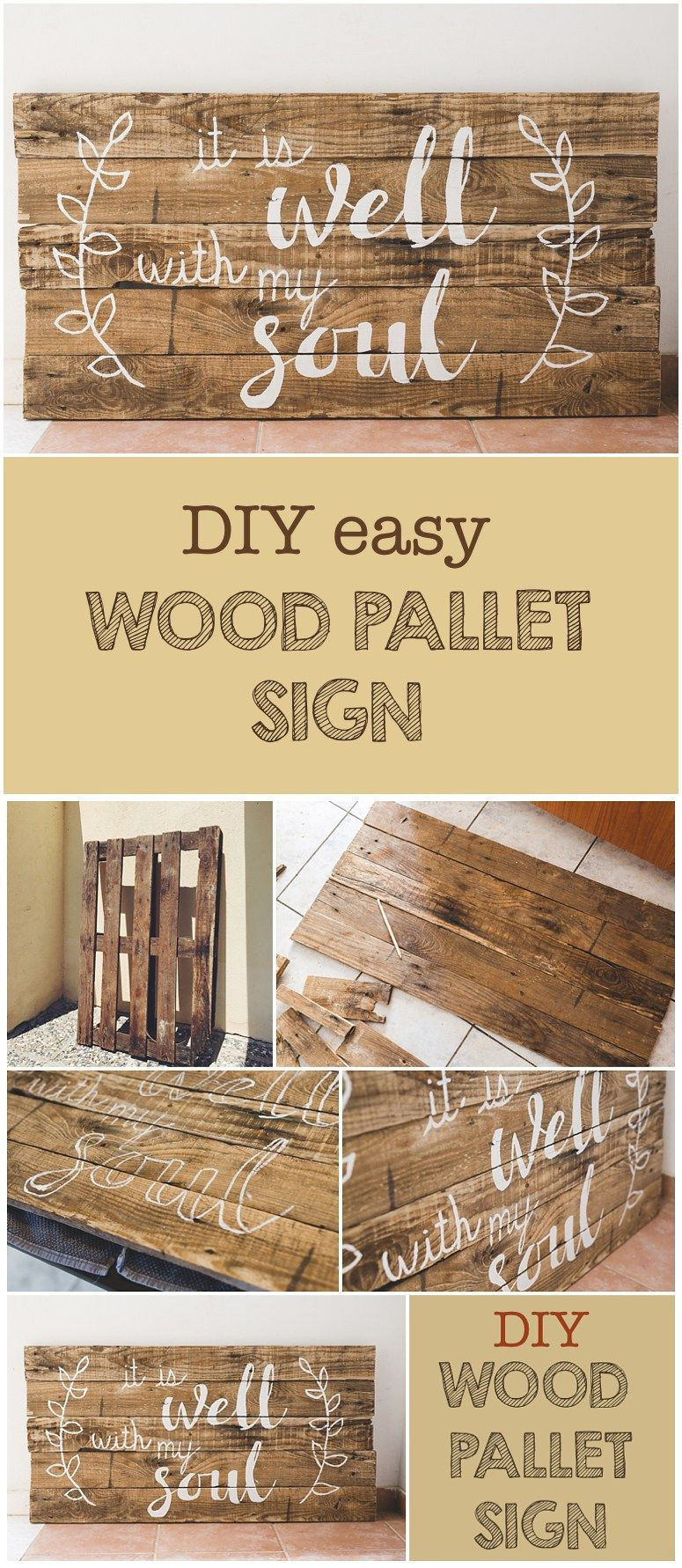 This DIY woodpallet sign is super simple to make yet so trendy