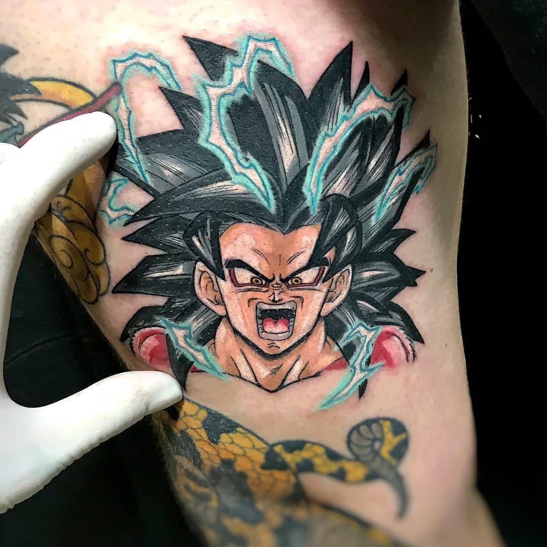 Goku Ss4 By Senzatempotattoo Visit Animemasterink For The Best Anime Tattoos To Submit Your Work Use The Tag Gamerink Dbz Db Tatuajes Blackwork Tatuar
