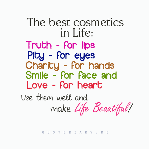 Life Sure Is Beautiful With These Cosmetics Charity Pinterest