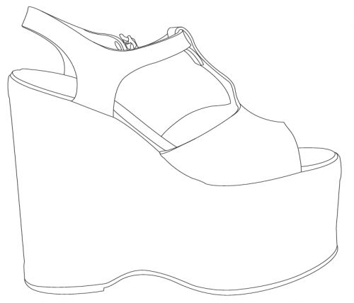 Plantillas Zapatos Dibujos De Diseno De Moda Bocetos De Diseno
