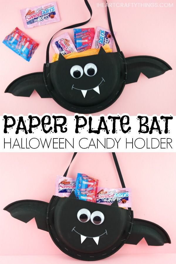 Paper Plate Halloween Candy Holder