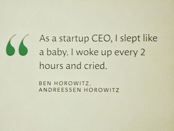 As A Startup Ceo I Slept Like A Baby I Woke Up Every 2 Hours And Cried Ben Horowitz Sleeping Like A Baby These Days 8230 Start Up Wake Me Up Wake Up