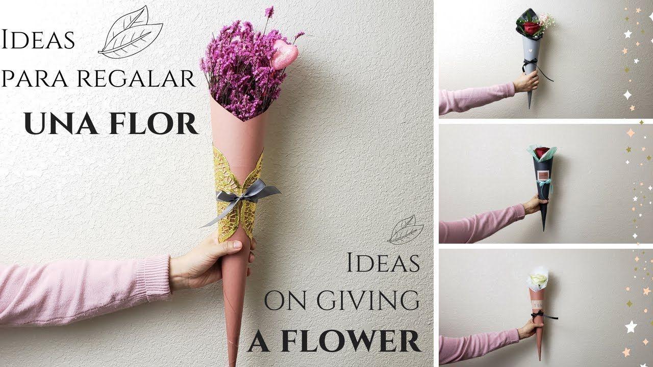 Como Hacer Un Hermoso Regalo Con Una Sola Rosa Ideas For A Single Rose Como Hacer Areglos Florales Envoltura De Flor Arreglos Florales Diy