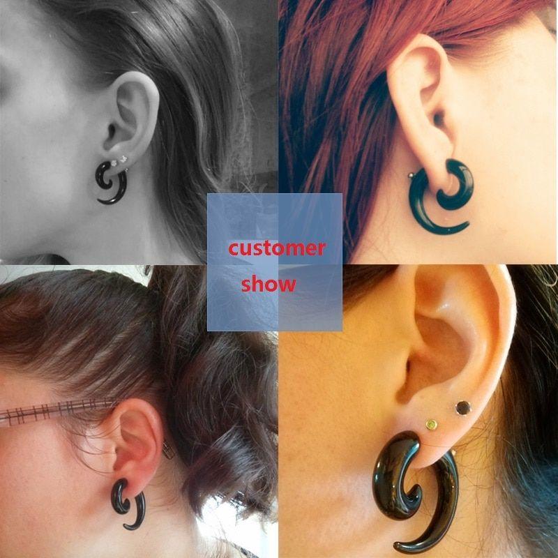 2018 New Trend Punk Style Zircon Statement Ear Stud Earrings Women Jewelry 1PCS