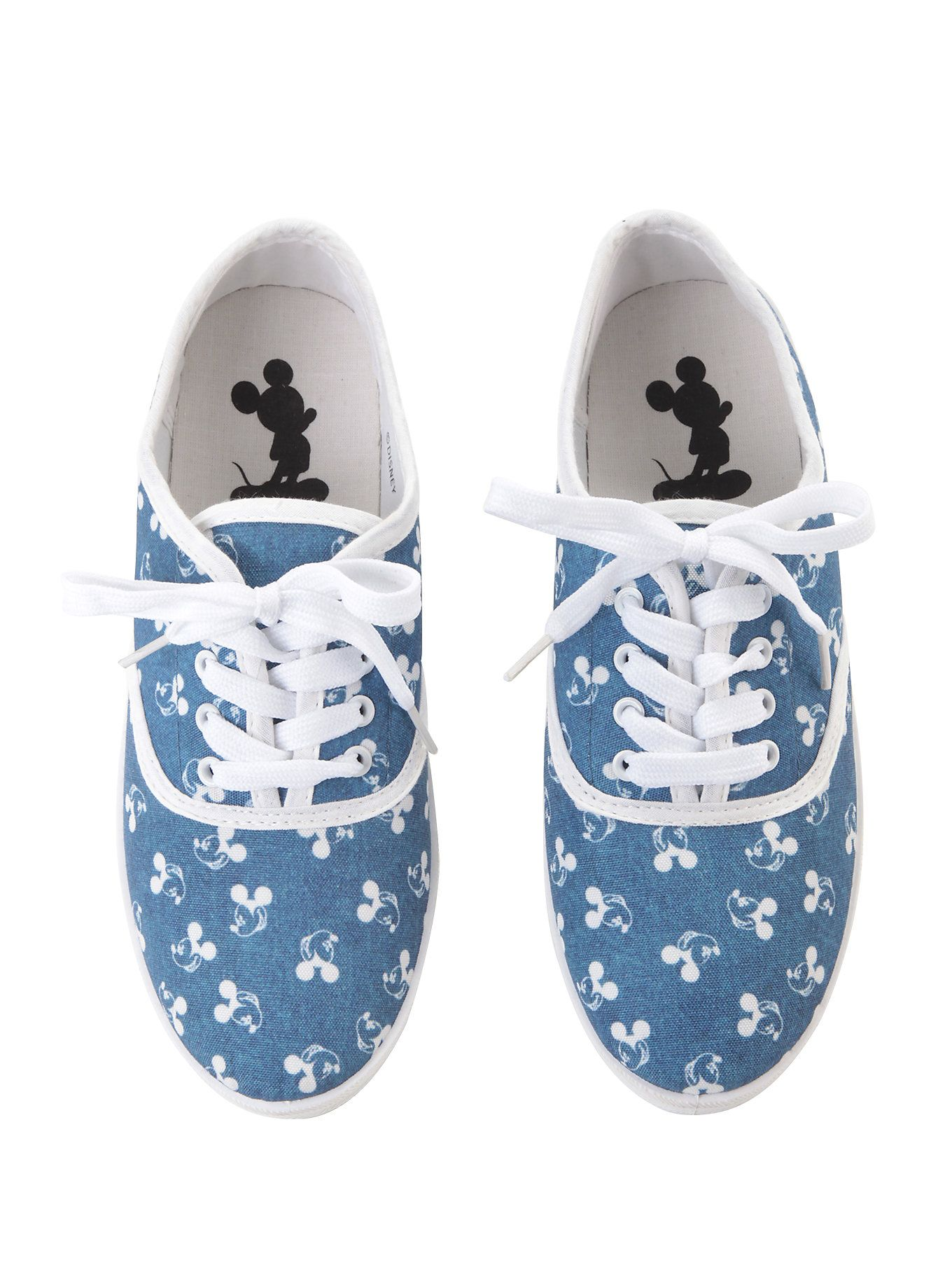 Disney Mickey Mouse lace-up sneakers from Hot Topic
