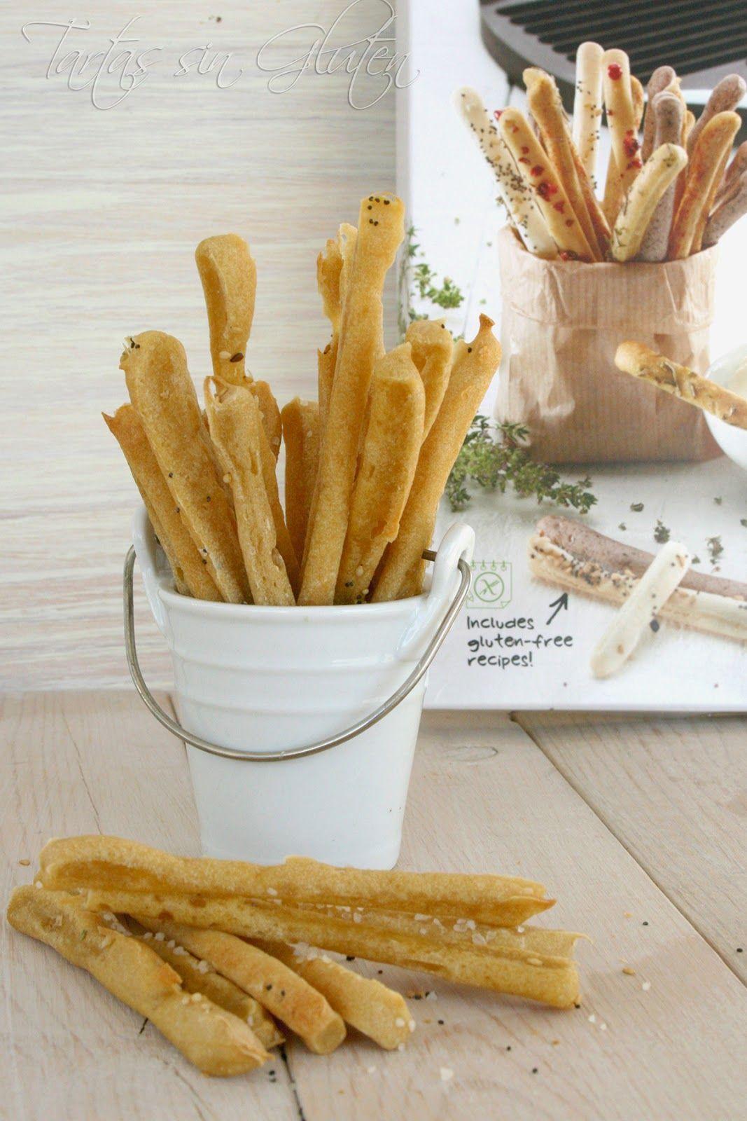 """Tartas sin Gluten .....365 dias sin gluten"" | Colines o Picos de Pan ( Sin Gluten) | Bread Sticks"