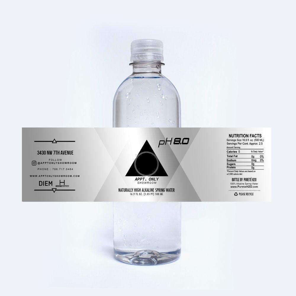 Appt Label Mockup Jpg Labels Water Spring Water Drinking Water