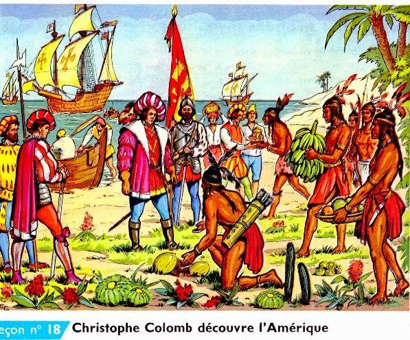 Christophe Colomb découvre l'Amérique | Christophe colomb, Histoire, École d autrefois