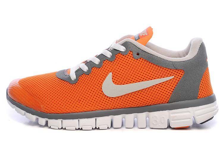 Nike Free 3.0 V2 Orange White Grey