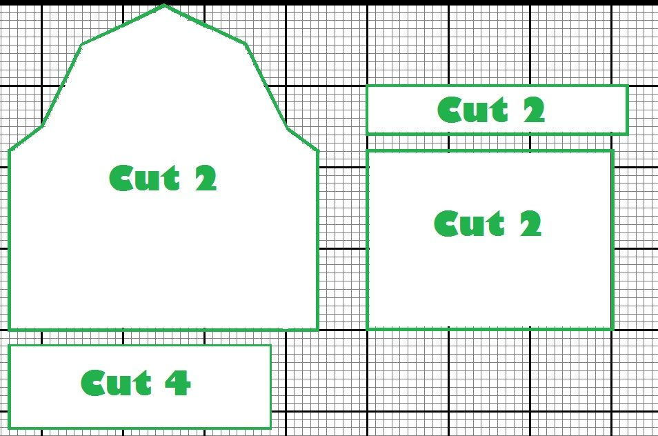 gingerbread house barn template  Template for a simple barn design. Untested as of yet, but ...